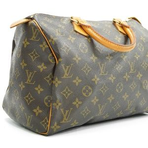 Louis Vuitton Speedy 30 Brown Monogram Canvas Tote